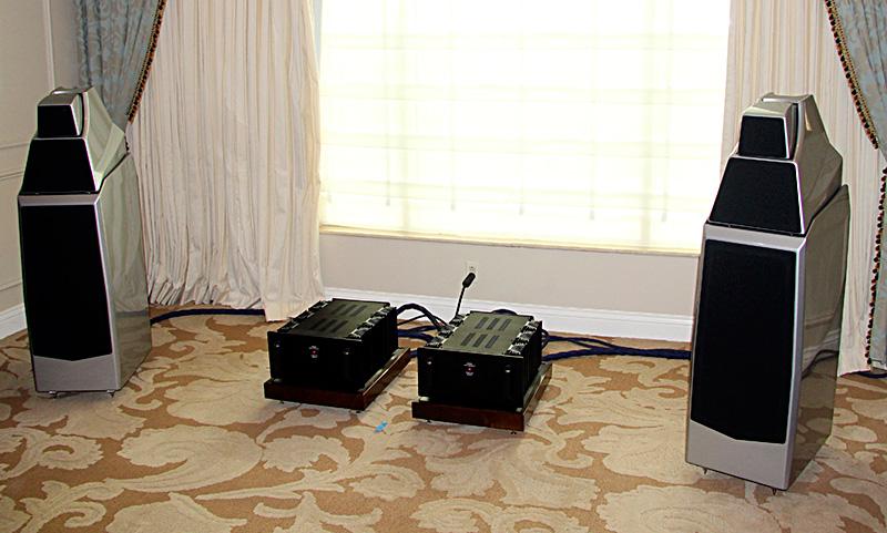 I diffusori Wilson Audio con le elettronice Lamm
