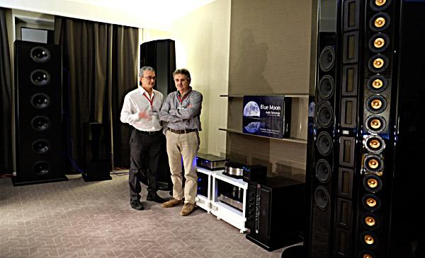 Da sinistra: Bruno Fazzini e Massimo Piantini al Mosca Hi End Show 2015