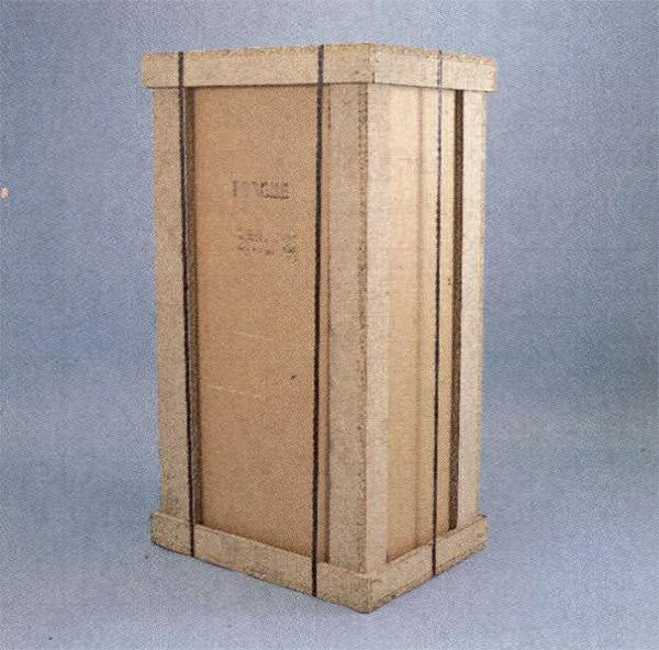 L'imballo dei 3000 dcm è assai solido, con angolari in legno, ed ha anche il pregio di es sere scomponìbile e quindi poco ingombrante una volta smontato.