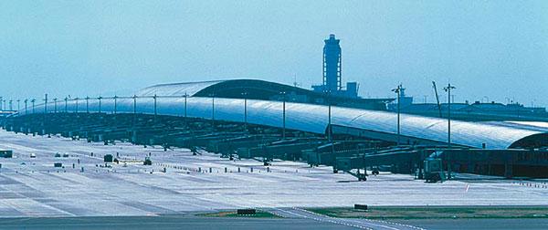 Figura 11 - Vista delle curve del tetto dell'aeroporto Kansai.