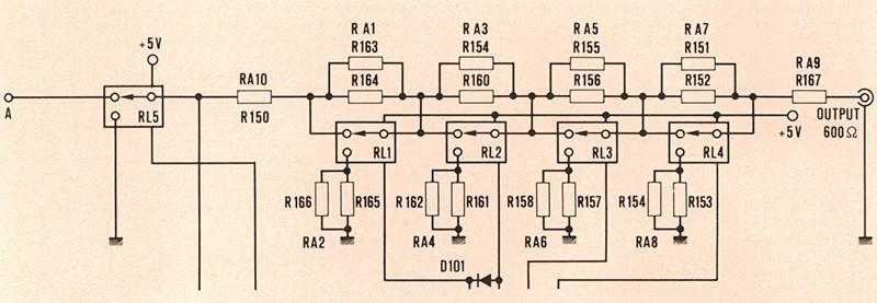 Figura 6. Schema elettrico dell'attenuatore di uscita.
