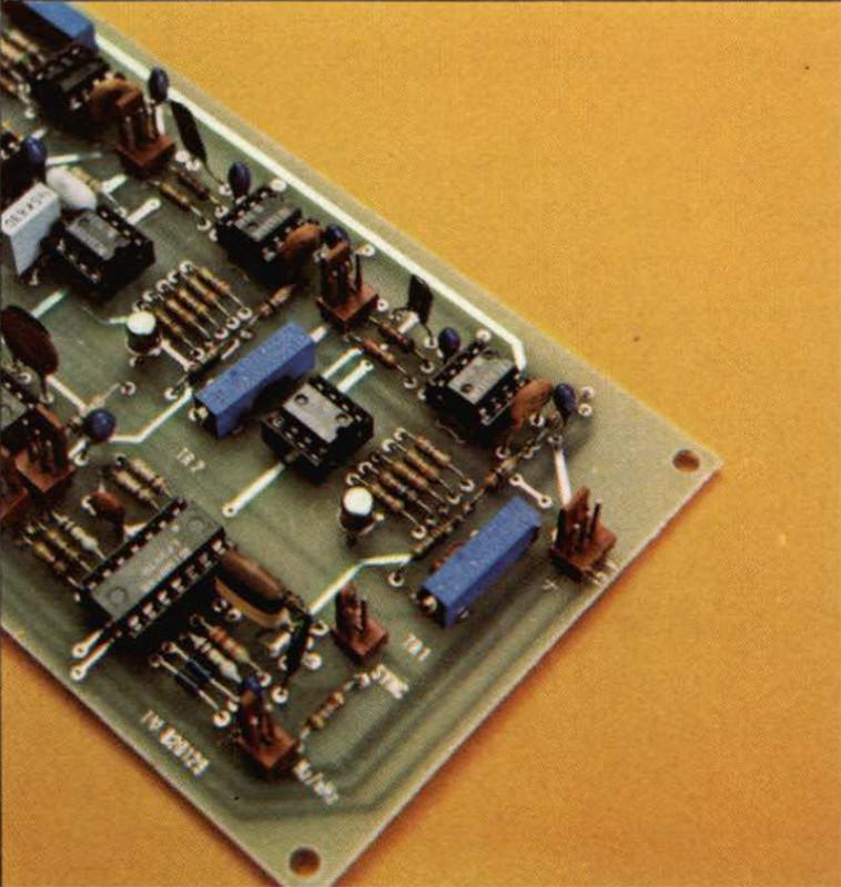 Particolare dei due trimmer usati per tarare i moltiplicatori per la mìnima distorsione.