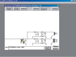 Fig.1 L'editor di sistema del vecchio WinCross (a sinistra) e di AUDIO per Windows a confronto.