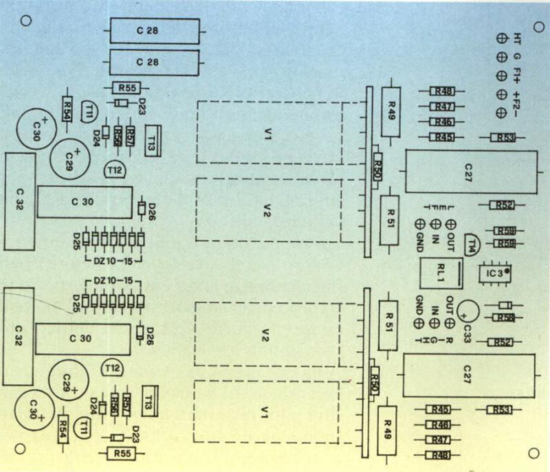 Scheda linea: anche in questo caso attenzione al montaggio dei componenti.