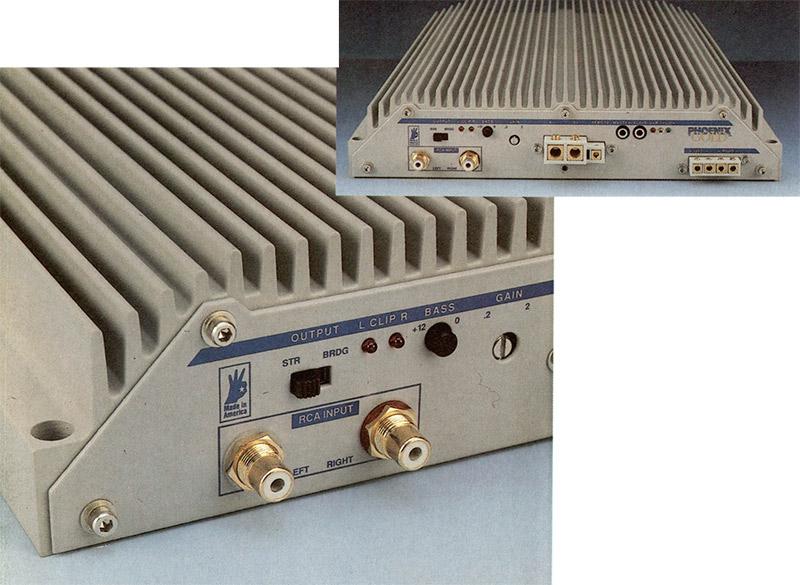 Sm un unico laterale sono disposti tutti i comandi e le prese. Notate l'aspetto molto elegante dell'insieme, dove risaltano le finiture dorate di tutti i connettori: da questa sola immagine è possibile intuire la qualità complessiva di questo componente. Òttimi risultano i connettori RCA, sopra i quali sono collocati il deviatore stereo-mono ed i led per la segnalazione del clipping, uno per canale.