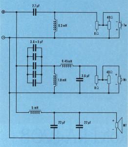 Lo schema del filtro crossover Yamaha FX-3