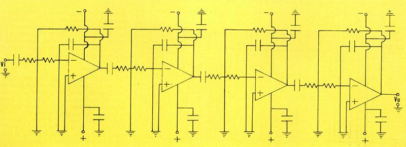 Figura 10 - Schema del fdtro antimmagine utilizzato durante le prove del crossover digitale.