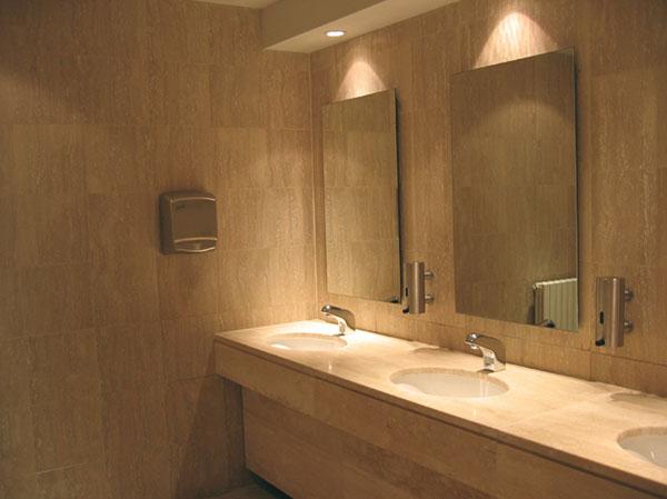 Figura 5 - Un omaggio ai bagni: raramente sono così ben progettati e ben realizzati, sia sotto il profilo igienico-sanitario che sotto quello dell'arredo-architettonico alla piccola scala.
