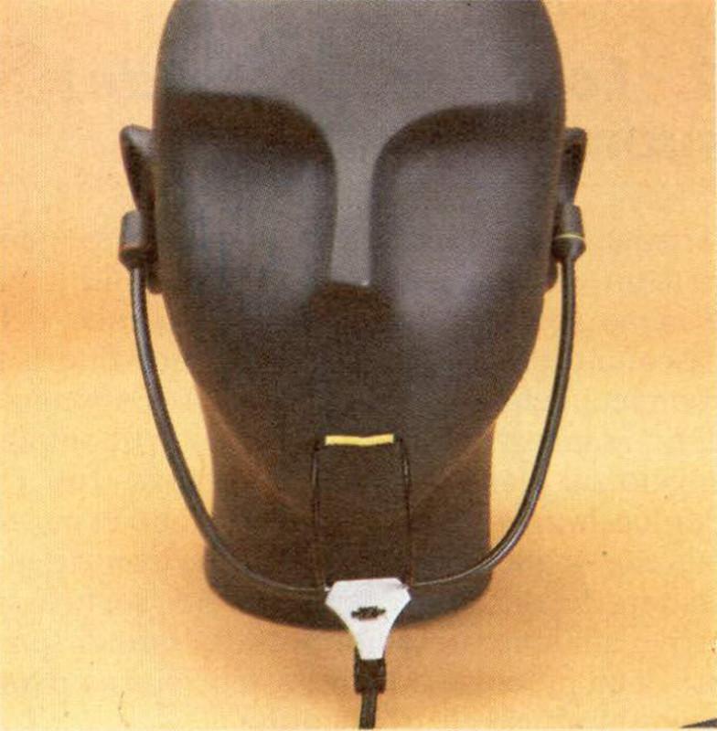 Figura 7 - Microfono bìnaurale Sennheiser MKE 2002 montato su una testa artificiale.