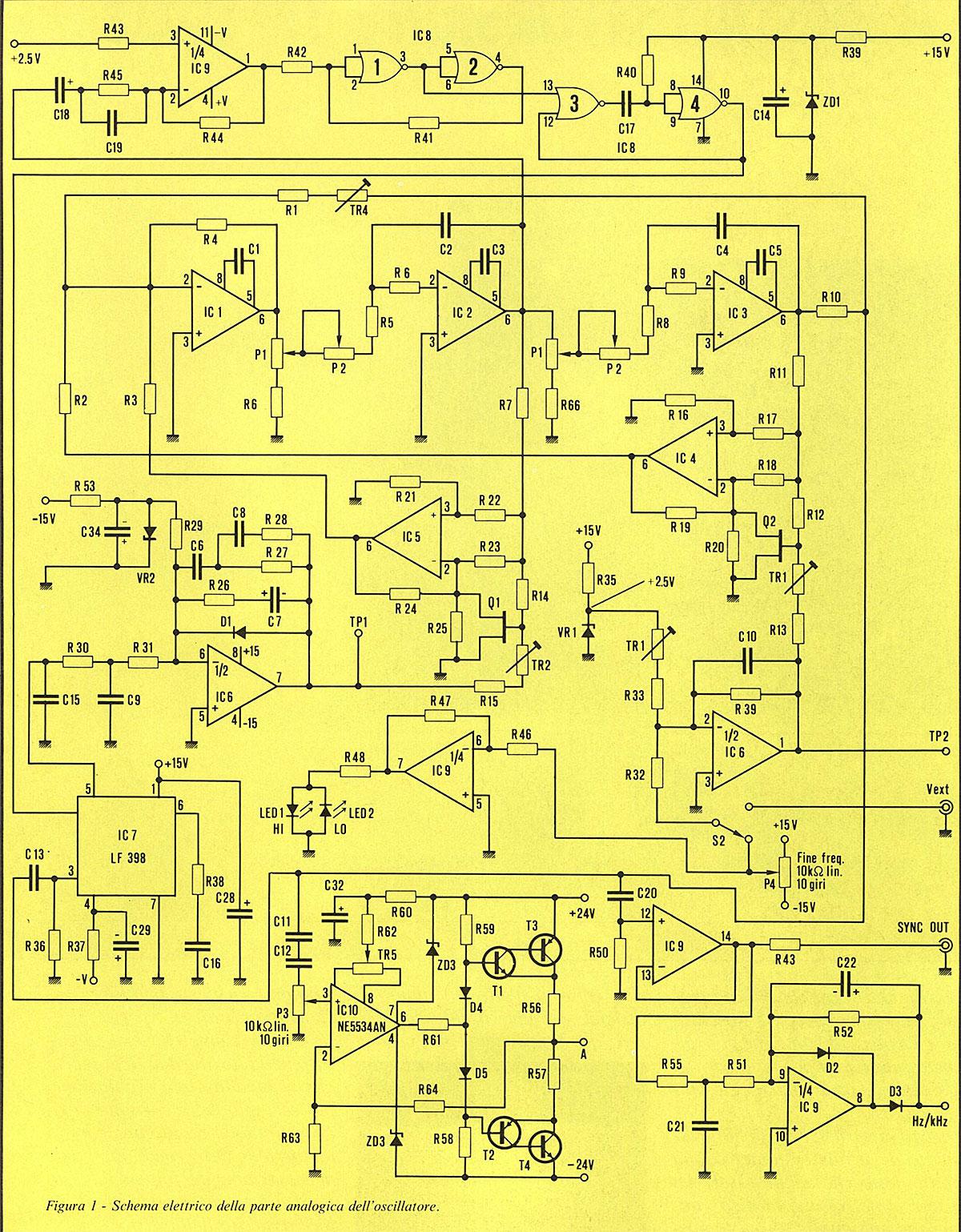 Schemi Elettrici Hi Fi : Oscillatore sinusoidale a bassa distorsione tm 8202 audioreview