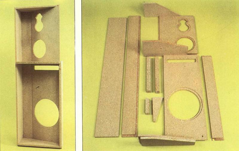 A .sinistra l'insieme delle pamellature anteriori come si presenta dopo l'assemblaggio; al centro i pezzi che lo compongono; a destra i disegni con le quote dei singoli pezzi.