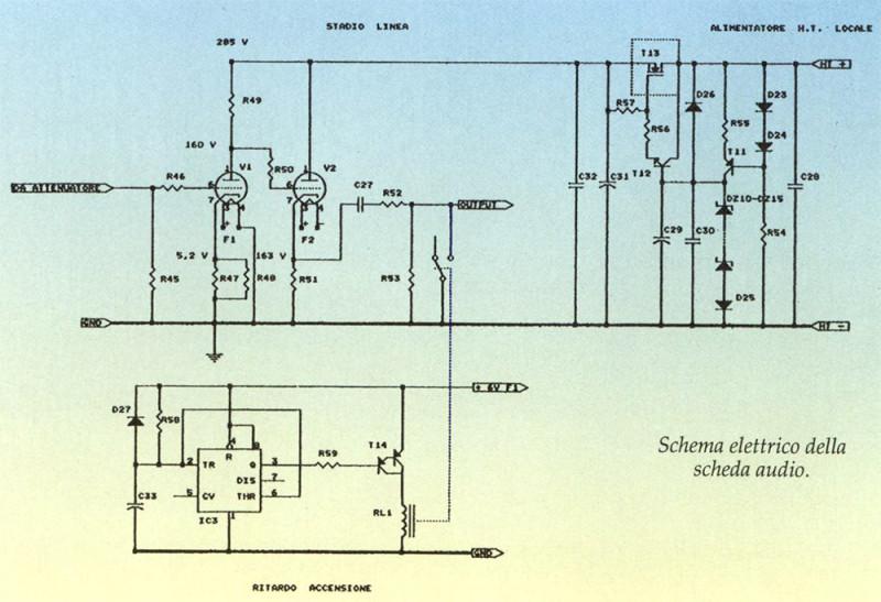 Schema elettrico della scheda audio.