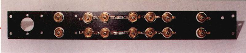 Foto 3 - Collegamenti dei capicorda delle masse ingressi. Come si può vedere le masse dei due canali sono separate.