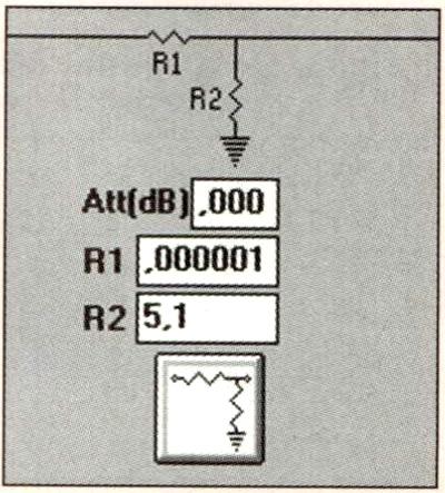 Figura 7 - Rete di compensazione del tweeter: prevede soltanto una resistenza in parallelo allo stesso, per l'allineamento del livello di emissione a quello del woofer.